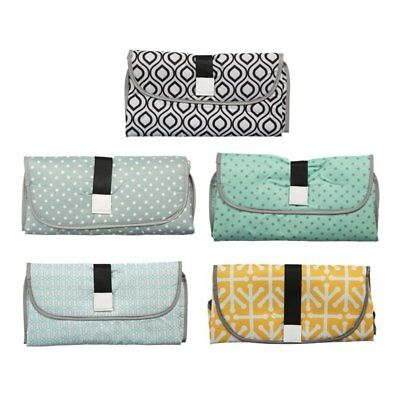 Baby Nappy Diaper Bag Changing Change Clutch Mat Foldable Pad Handbag Wallet AS