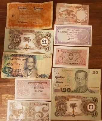 MIXED REGIONS - 10x Bank Notes from various regions & in varying conditions