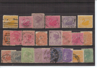 WESTERN AUSTRALIA, SA, NSW & VICTORIA - Selection of State Stamps - Mostly USED