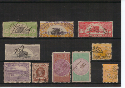 WESTERN AUSTRALIA, TASMANIA , VIC & NSW - Selection of Used State Stamps