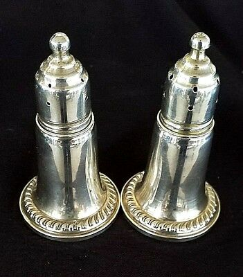 Vintage Reed & Barton Sterling Silver 925 Salt & Pepper Shakers 2pc 768