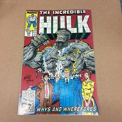 INCREDIBLE HULK #346 1988 VF/NM 9.0 McFarlane art Copper Age Age Marvel Comics