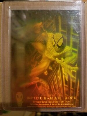 Spider-Man Hologram {#4 of 4} Insert Card Spider-Man 1994 Trading Cards