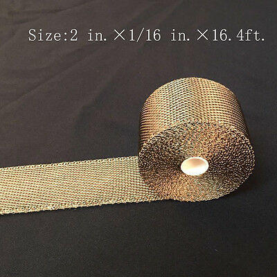 """Titanium Exhaust/Header Heat Wrap high 2"""" x 16.4ft. Roll With Stainless Ties Kit"""
