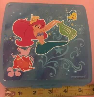 Disney Llittle mermaid Tupperware Storage Case Sandwich Keeper