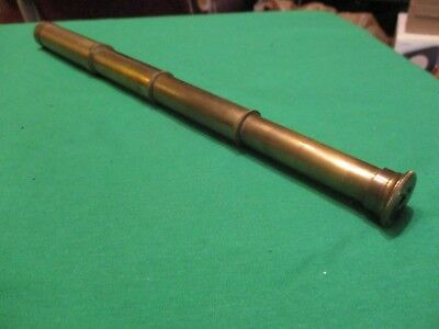 "Antique Solid Brass Telescope / Spyglass. 15"" Fully Extended; 5-1/2"" Closed."