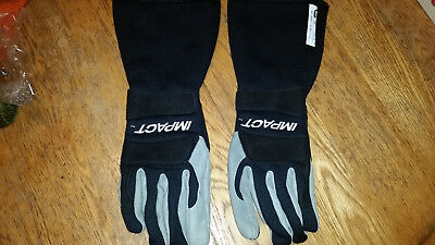 impact nomex fire resistant g5 racing gloves size medium gray and black