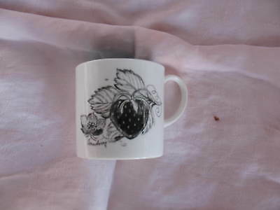 Susie Cooper Wedgwood Black Fruit Small Cup Or Mug Strawberry