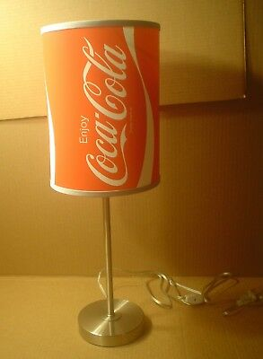 Vintage Stainless Steel Lamp with Coca-Cola Can Shade