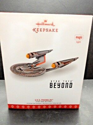 Hallmark Ornament KEEPSAKE 2017 STAR TREK MAGIC  LIGHT U.S.S. FRANKLIN  (NIB)