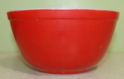 Vintage Pyrex Primary Red Glass 1 1/2 Q Nesting MIXING BOWL 402
