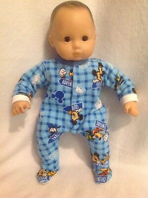 """15"""" Bitty Baby Disney Mickey Mouse sleeper pajamas twins boy Doll Clothes outfit"""