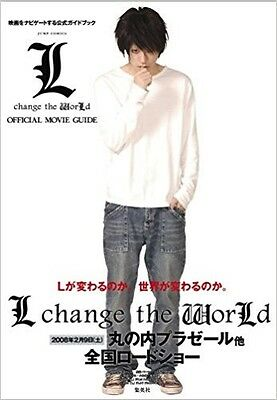 JAPAN Death Note L change the WorLd Movie Guide book