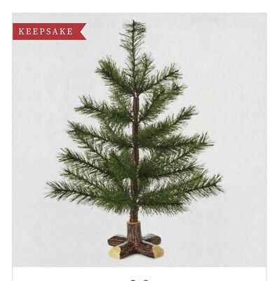 "Hallmark 2018 ~ Evergreen Mini Keepsake Ornament Tree - 18"" Tall"