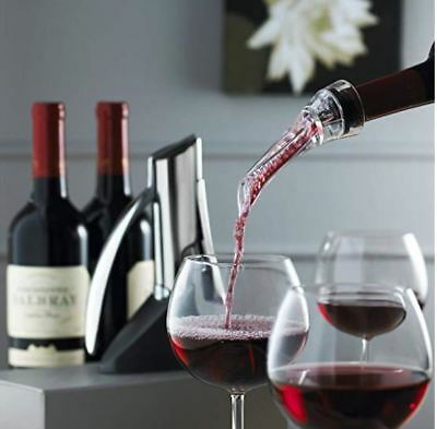 Trudeau Aroma Aerating Pourer with Stand Red Wine Bottle Aerator Spout