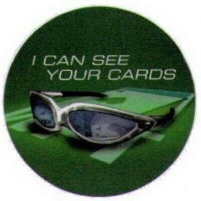 World Poker Tour Can See Your Cards Button WB1609