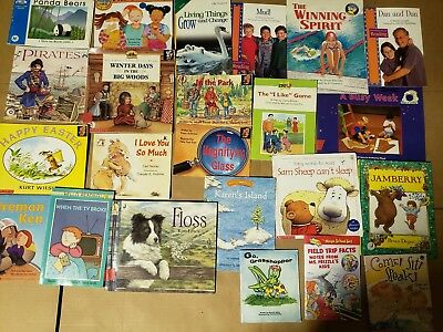 Lot of 20 K-5 Children Reading Bedtime-Story Time Kid BOOK Learn to Read MIX A60
