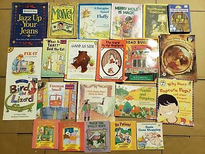 Lot of 20 K-5 Children Reading Bedtime-Story Time Kid BOOK Learn to Read MIX A61