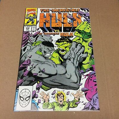 INCREDIBLE HULK #376 NM/NM+ GREEN vs GREY HULK! by David & Keown Marvel Comics
