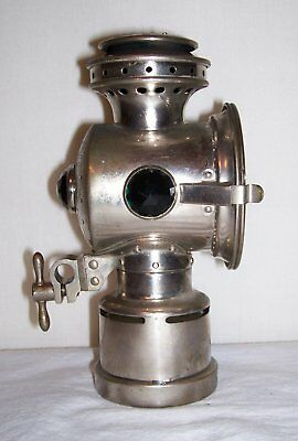 Antique Neverout Bicycle Lamp Rose Mfg. Co. 3 Jewel Nice