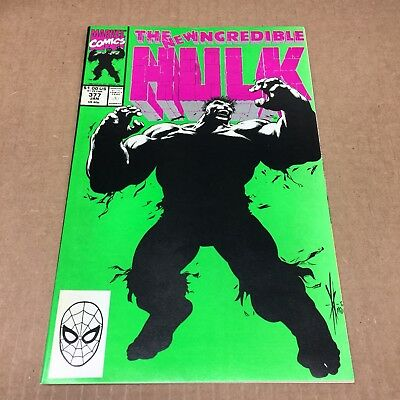 INCREDIBLE HULK #377 1991 NM/NM+ 1st New Merged Hulk! Copper Age Marvel Comics