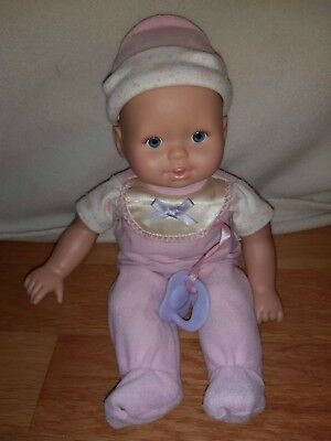 Little Mommy Real Loving Baby Cuddle & Coo Doll Fisher Price Pink Outfit Works