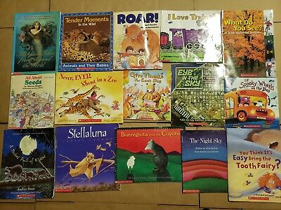 Lot of 15 Scholastic Classroom Teacher Reading Bedtime-Story Time Child Book A40