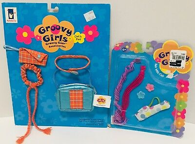 NEW! Groovy Girls Doll Accessories Clothing Lot CLAD IN PLAID & HAIR WITH FLAIR