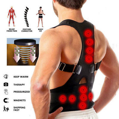 Magnetic Therapy Posture Corrector Body Back Pain Brace Shoulder Support Belts