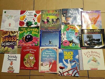 Lot of 15 Scholastic Classroom Teacher Reading Bedtime-Story Time Child Book A41