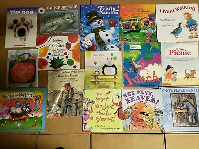 Lot of 15 Scholastic Classroom Teacher Reading Bedtime-Story Time Child Book A42