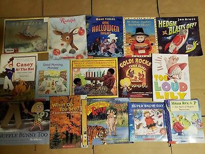 Lot of 15 Scholastic Classroom Teacher Reading Bedtime-Story Time Child Book A43