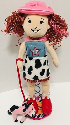 """Retired! 2006 GROOVY GIRL DOLL Limited Edition """"ELLIE MAE"""" COWGIRL USA & Pet Cow"""