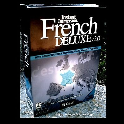 New Immersion FRENCH Learn to Speak Instant Language DELUXE 8 CD  ~  300 Hrs NIB