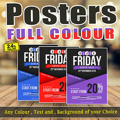 A3 A2 A1 A0 Personalised Photo Poster Print Printing Service, Full Colour