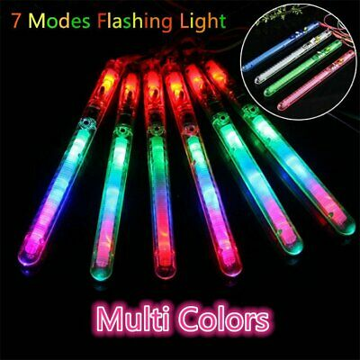 5 50PCS LED Glow Stick Multi Color Flashing Blinking Wand For Concert Rave Party