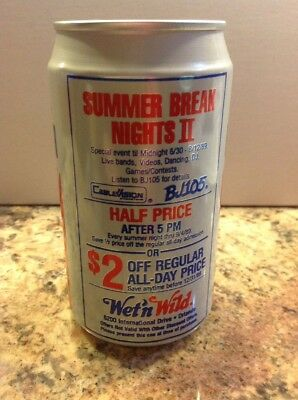 1989 Pepsi PT Alum Soda Can Summer Break Nights II