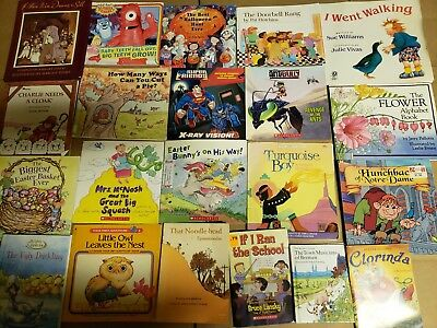 Lot of 20 K-5 Children Reading Bedtime-Story Time Kid BOOK Learn to Read MIX A64