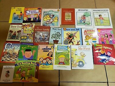 Lot of 20 K-5 Children Reading Bedtime-Story Time Kid BOOK Learn to Read MIX A66