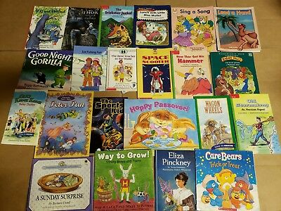 Lot of 20 K-5 Children Reading Bedtime-Story Time Kid BOOK Learn to Read MIX A68