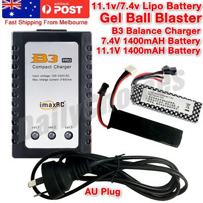 B3 Balance Charger For 11.1V/7.4V Lithium Battery Gel Ball Blaster AU PLUG 🇦🇺