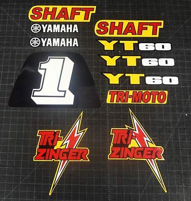 1984-1985 TRI-ZINGER 11pc YT60 Yellow Model Trike Graphic Kit Decal Stickers ATC