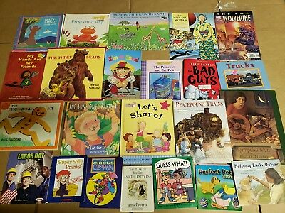 Lot of 20 K-5 Children Reading Bedtime-Story Time Kid BOOK Learn to Read MIX A70
