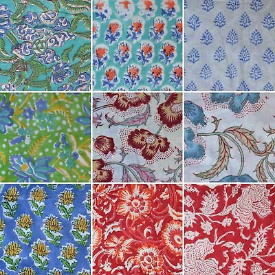 Beautiful Cotton Fabric Handmade Vintage Craft By The Yard Running Loose Swing