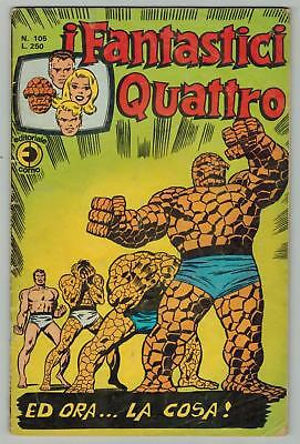 i Fantastici Quattro 105 Italian version of Fantastic Four #107   (Apr 1975)  GD