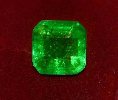 8.35 Cts Natural Green Emerald, GGL Certified Emerald Shape Zambian Gem