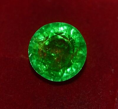 Natural Green Emerald, GGL Certified 11.30 Cts Round Shape Zambian Gem