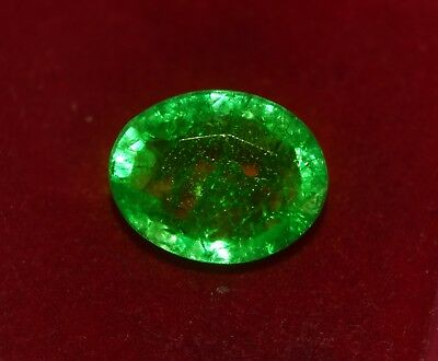 GGL Certified Natural Green Emerald, 4.55 CT Oval Shape Zambian Gem