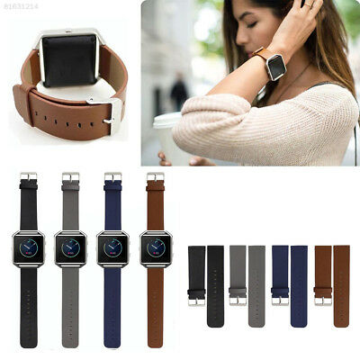 4734 Genuine Leather Watchband Bracelet Band Strap For Fitbit Blaze Smart Watch