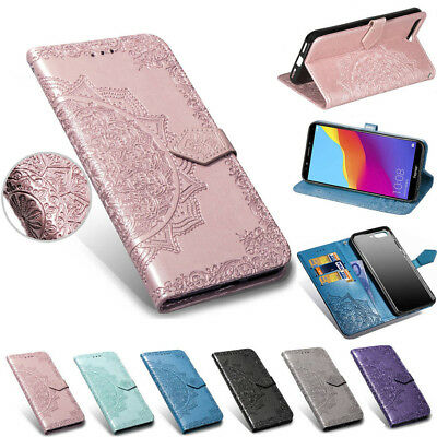 For Huawei Y3 Y5 Y6 Y7 Prime 2018 Flip Painted Leather Wallet Card Case Cover